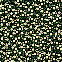 Beautiful seamless ditsy pattern with little flowers vector