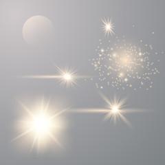 Set of Transparent Flares
