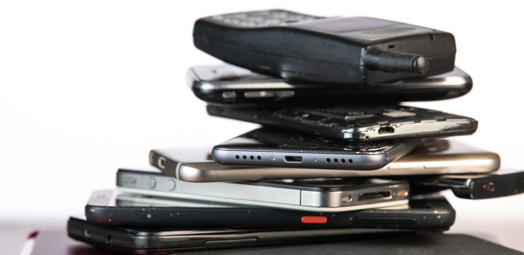 Outdated models of mobile phones and smartphones
