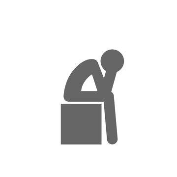 Depression Icon Symbol.