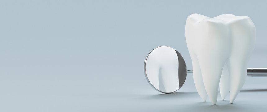 Dental care, dental implant, 3d rendering