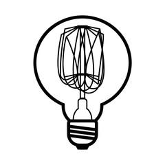 Vector illustration of edison bulb.