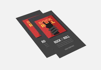 Rock 'N Roll Themed Trifold Brochure Layout