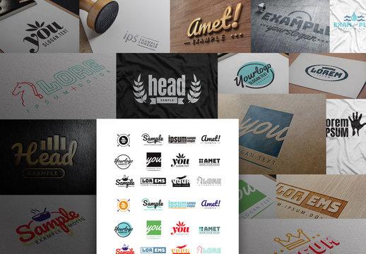 Minimalist Typography Logos and Icon Layouts