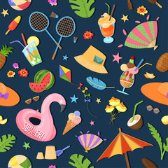 Spirit of summer, summertime pattern