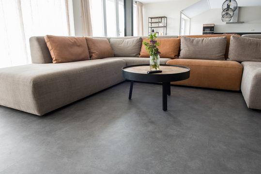 PVC flooring with decoration