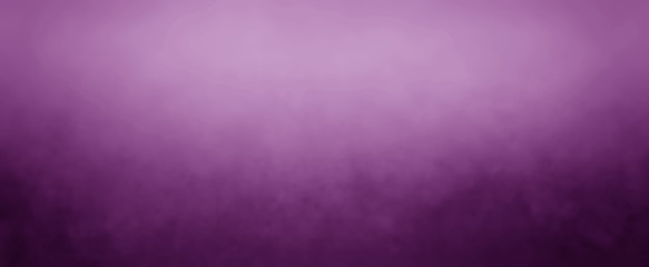 Elegant purple background with white hazy top border and dark black grunge texture bottom border,...