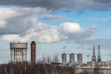 The Goole skyline. From a series of photos taken in Goole, Yorkshire. Photo date: Tuesday, March 5, 2019. Photo: Richard Gray/Adobe