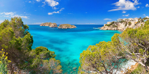 Santa Ponsa Majorca Mallorca Spain Baleares Mediterranean Sea Coastline