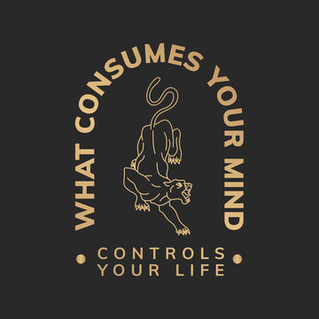 What consumes your mind illustration