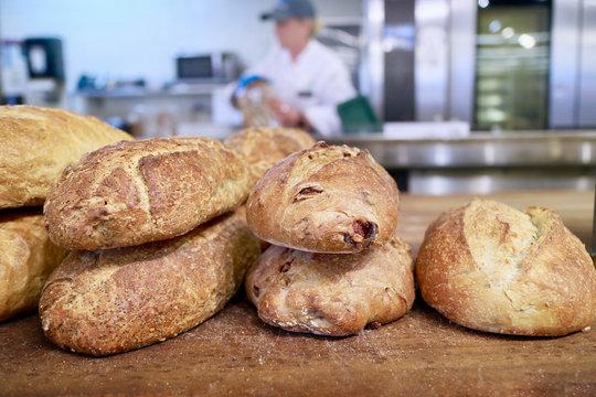 Whole Foods baker baking bread