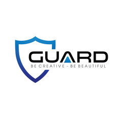Blue Guard and Shield Logo Vector, Icon