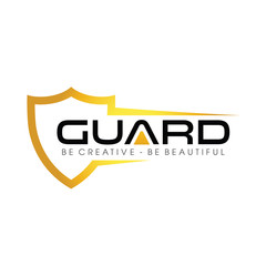 Gold Guard and Shield Logo Vector, Icon