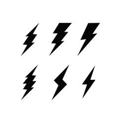 Thunder bolt and flash Logo Design, Icon Vector