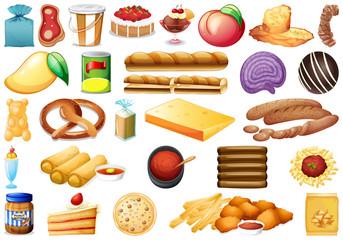 Set of western cuisine