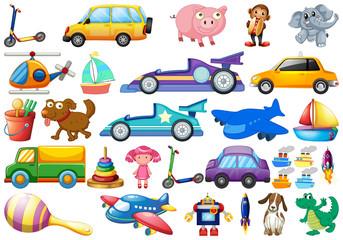 Set of children toys