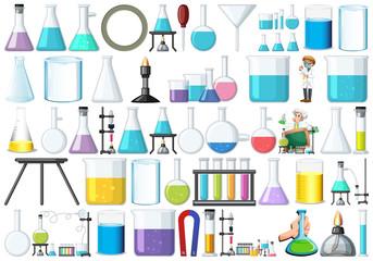 Aluminium Prints Kids Set of lab equipment