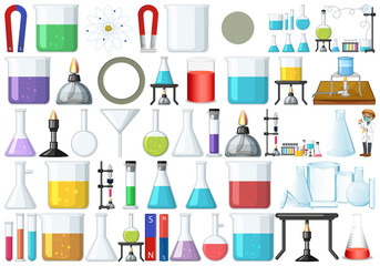 Garden Poster Kids Set of lab tools