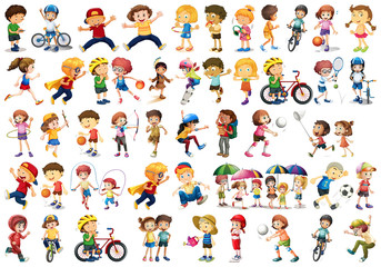 Poster Kids Set of sport kids