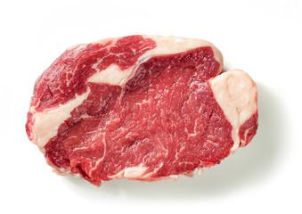 Keuken foto achterwand Steakhouse fresh raw beef steak meat
