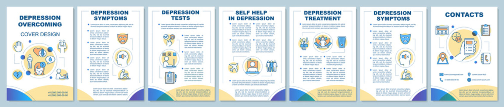Depression treatment brochure template layout