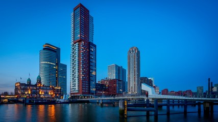 Foto auf Leinwand Rotterdam Rotterdam Skyline