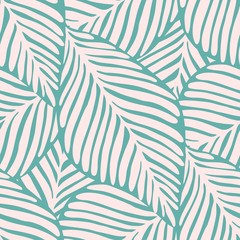 Abstract tropic leaf seamless pattern. Exotic plant.