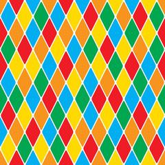 Harlequin's polychromatic mosaic bright cheerful seamless pattern.