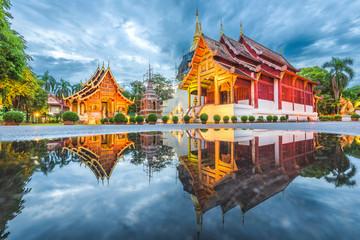 Fototapete - Wat Phra Singh in Chiang Mai, Thailand.