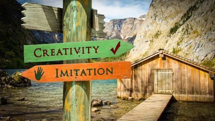Street Sign Creativity versus Imitation