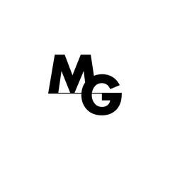 Fototapeta letters mg simple linked logo vector obraz