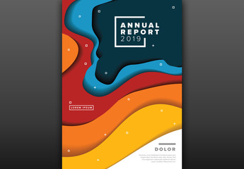 Report Cover with Rounded Abstract Designs