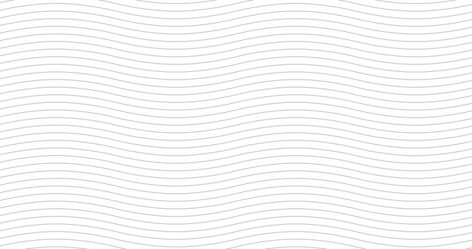 Geometric grey waves seamless pattern. Light collection. Abstract wave textured background design. Vector illustration for minimalistic design. Modern elegant wallpaper. 4K format.