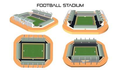 Football stadium 3d