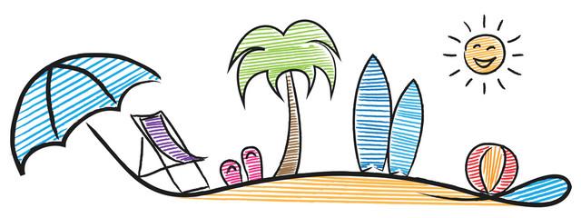 Sommer Logo Urlaub