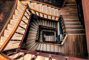 retro spiral staircase Fototapete