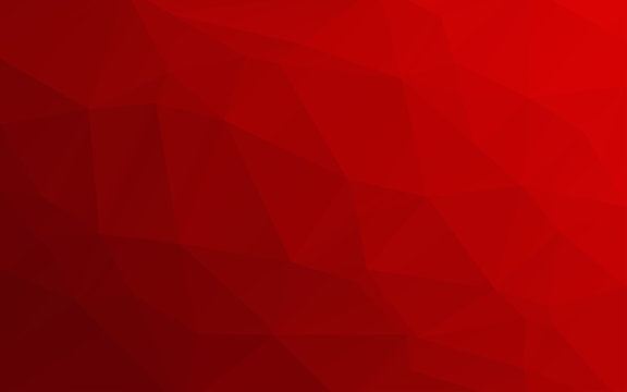 Red triangles background. Abstract polygonal illustration. Vector geometric image.
