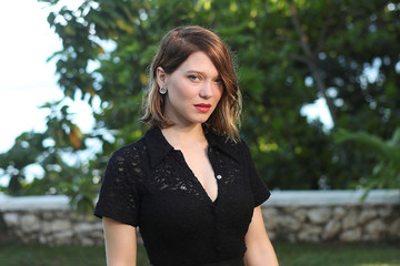 """Actor Lea Seydoux poses for a picture during a photocall for the British spy franchise's 25th film set for release next year, titled """"Bond 25"""" in Oracabessa"""
