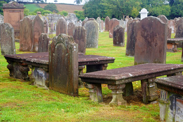 Cemetery at the Sweetheart Abbey