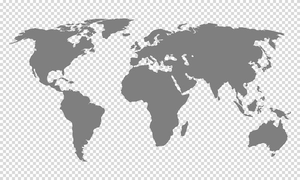 world map with transparent background