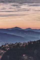 a mountain town.