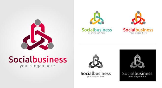 Social Business Logo Template Set