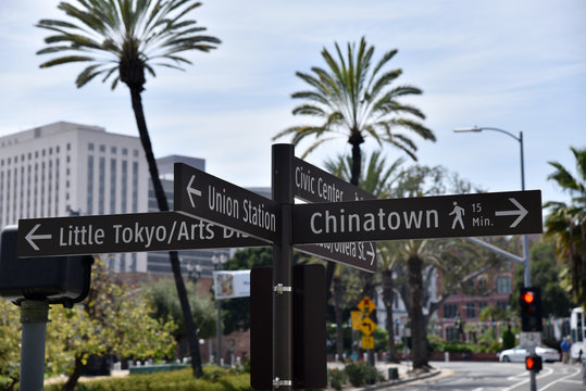 Chinatown Little Tokyo Street Sign
