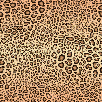 Realistic leopard seamless pattern. Animal skin texture. Vector background of jaguar, leopard, cheetah, giraffe fur. Abstract exotic african style pattern. Repeat design for decor, textile, wallpapers