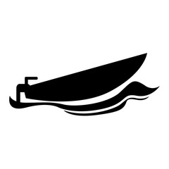 Isolated boat icon image. Vector illustration design