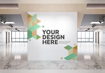 Wall in Modern Office Mockup