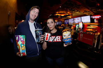 """Avengers fans purchase popcorn and drinks at the TCL Chinese Theatre in Hollywood as they attend the opening screening of """"Avengers: Endgame"""" in Los Angeles"""