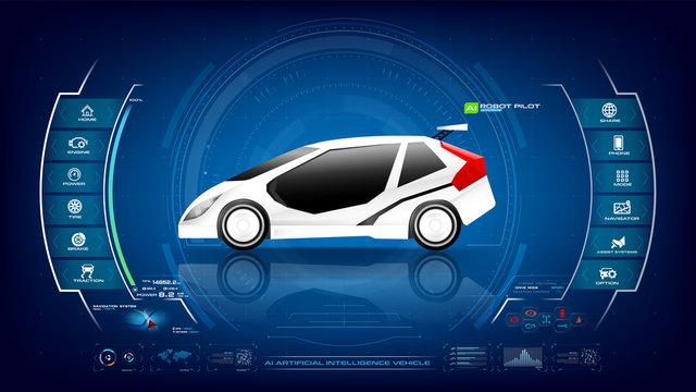Electronic EV car with AI interface 001