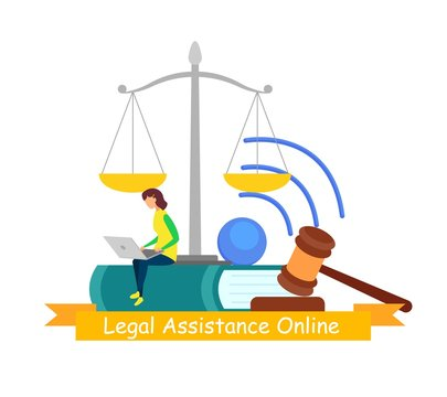 Legal Assistance, Online Consulting Web Banner