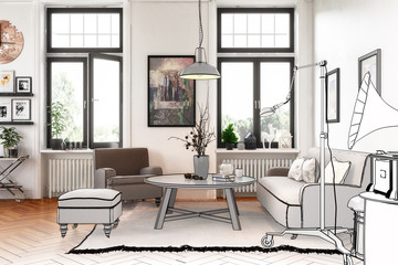 Modern Retro Style Apartment (project)